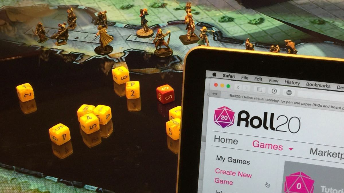 Roll20 controlling a TV laying flat