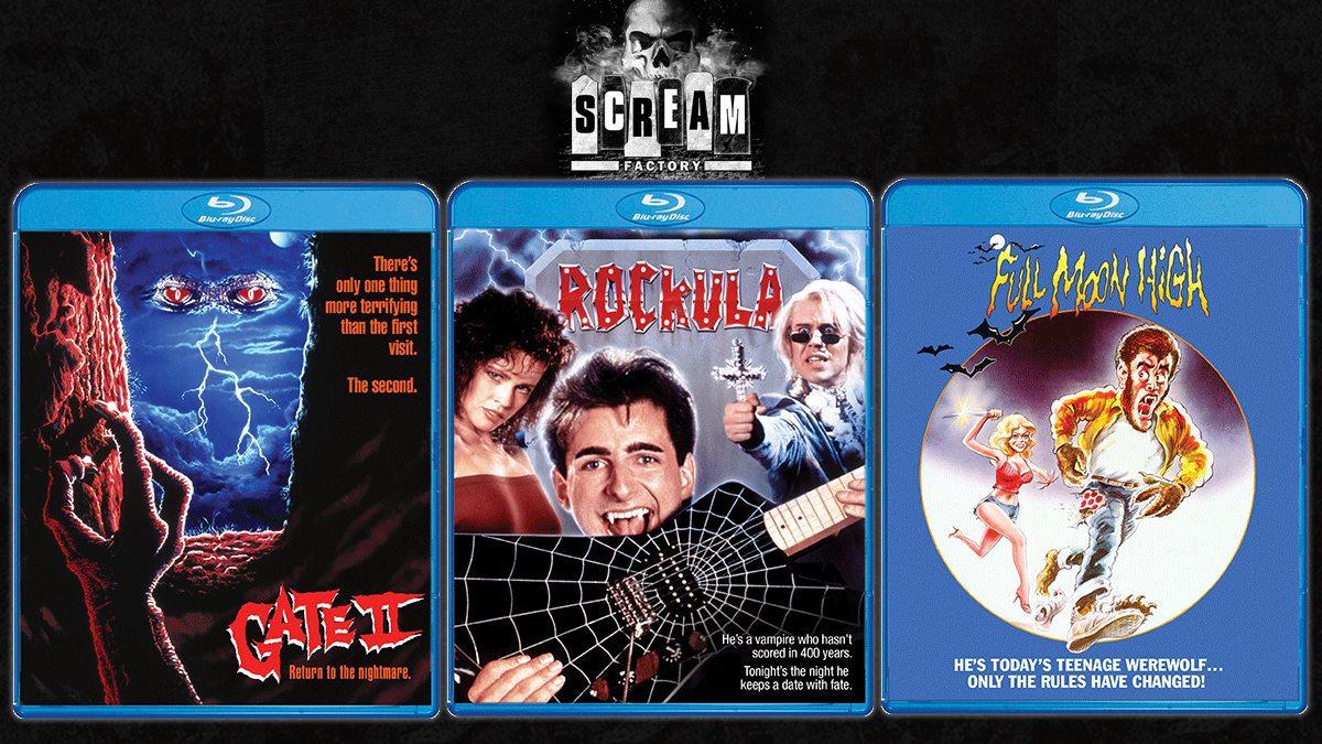 Scream Factory Blu-rays: Gate II, Rockula, Full Moon High