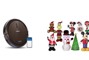 Geek Daily Deals 111818 robot vacuum holiday inflatables