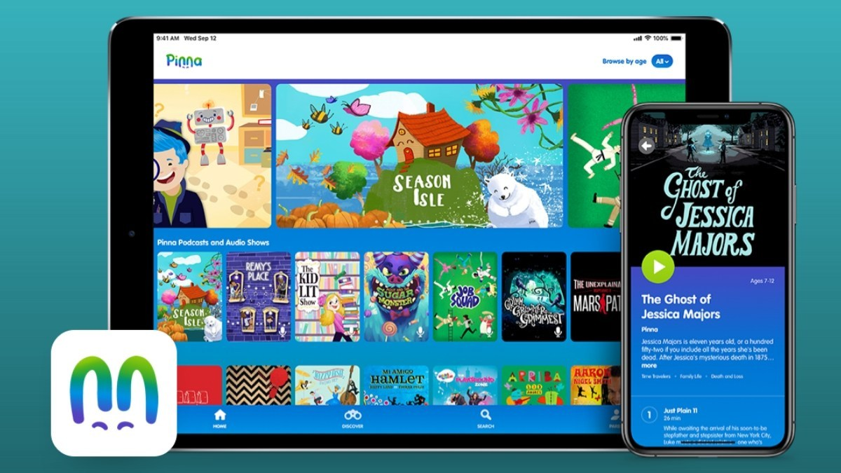 Pinna is the first curated, ad-free, streaming service for podcasts, audiobooks and music for ages 3 to 8.