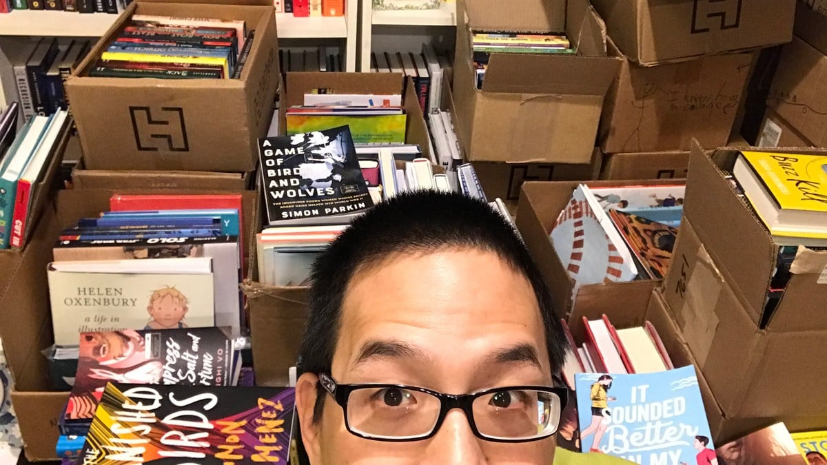 Jonathan Liu with books