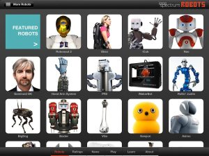 Robots for iPad, from the IEEE