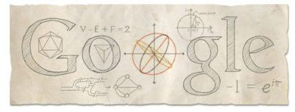 Google Doodle Celebrates Leonhard Euler's Birthday!