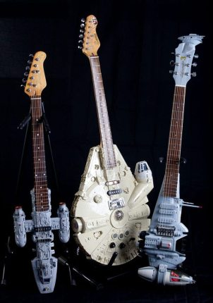 Guitars Shaped Like Spaceships From Star Wars