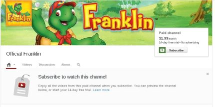 YouTube Launches Paid Channels With Many Kid Shows