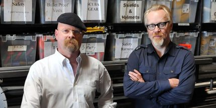 MythBusters' Adam Savage and Jamie Hyneman on Superman, Shaving, and Stuff You Can Try at Home