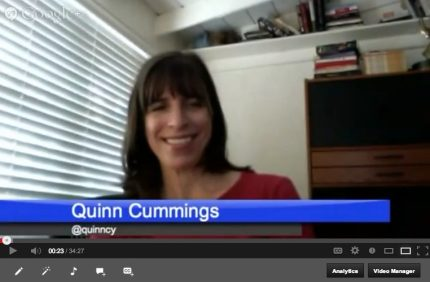 Introducing GeekMom Book Dish! Episode One: Quinn Cummings