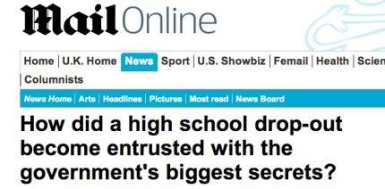 "Edward Snowden: Brilliant ""Dropout"""