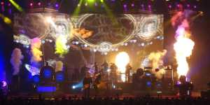 Rush performs ClockWork Angels, back by a string section