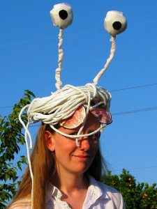 National Macaroni Day, pasta crafts, Flying Spaghetti Monster,