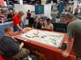 Days of Wonder had a Giant Ticket to Ride, plus demos of their upcoming game Relic Runners.