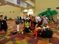 Cosplayers unite! There were people in costumes of all sorts walking around Gen Con the entire weekend.