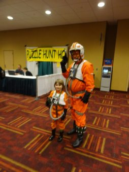 An X-Wing pilot and her dad.