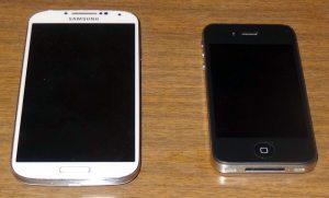 Galaxy iPhone size comparison