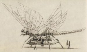 "Ralph McQuarrie concept art for a ""Sicemon taxi."""