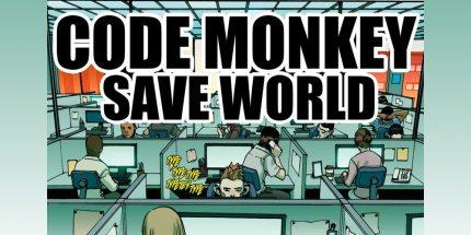 Code Monkey Save World #1 Available on Comixology