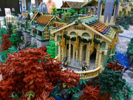 Lego Rivendell Wows at BrickCon 2013