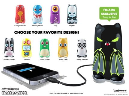 BatteryBot: The Fun Mobile Device Charger With Personality!
