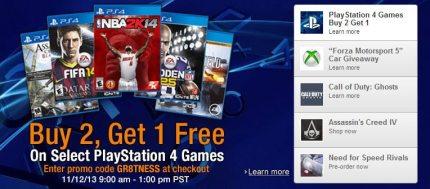 Amazon PS4 B2G1 Games Sale