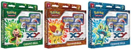 Win All Three Pokémon Trading Card Game XY Kalos Starter Sets!