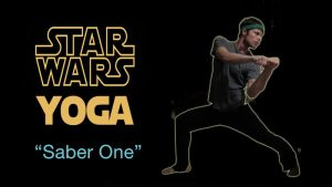 Star Wars Yoga - Saber One pose