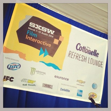 Reporting Live from SXSW and the Cottonelle Refresh Lounge