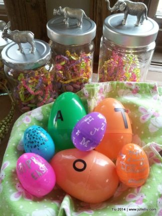 Quick Ways to Dress Up Plastic Easter Eggs With Lettering