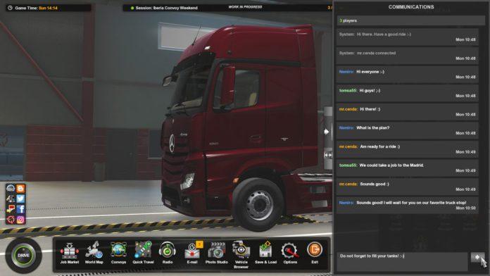 Euro Truck Simulator 2 - chat
