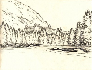 Banff Springs sketch
