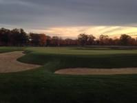 #17 - Looking back down the gorgeous seventeenth with the sun setting, it is hard to imagine a better golf experience.