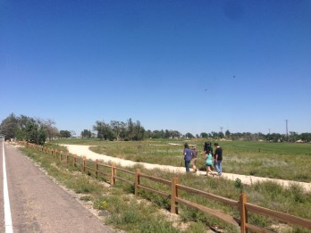 Walkers using the trails at the new Rockwind Community Links.