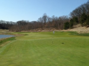 #14 - The view back highlighting the wonderful undulation of the green and fairway