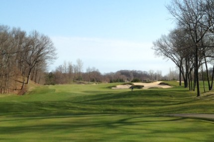 #7 - Bunkers on this blind tee shot hide the available fairway width