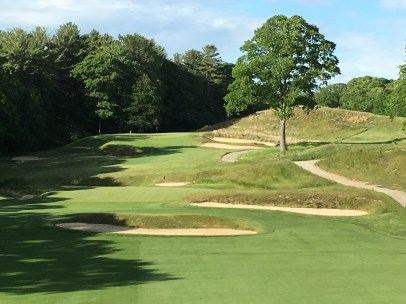 #10 - Par 4 - Zoom from the forward tee, with the 11th behind