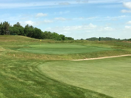 #11 - Par 4 - Approach left to the elevated green