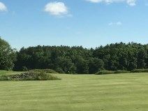 #2 - Par 5 - From the fairway, with mounds to navigate