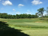 #6 - Par 4 - Approach left to the front-to-back sloped green