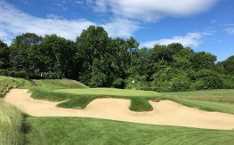 #3 - Par 3 - Bunkers surround the putting surface