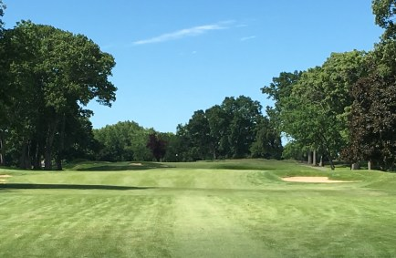 #7 - Par 4 - Tee shot among the beautiful old trees
