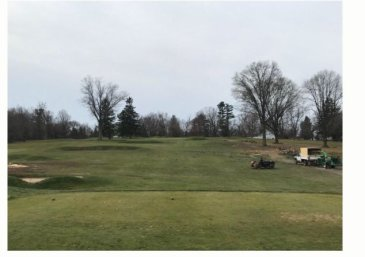 After - The natural beauty of the green setting, and Ross's bunkering, in full view