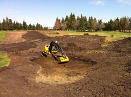 George, shaping a bunker