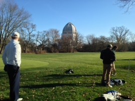 RJGers on the tee in the shadow of the Baha'i Temple.