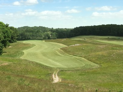 #12 - Par 4 - Tee view of the thrilling drive