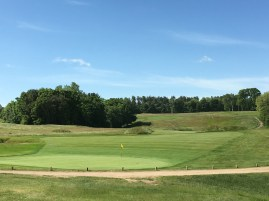 #2 - Par 5 - Green back view shows the feeding slope