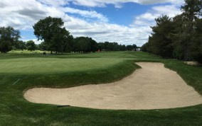 #17 - Green back left from the 18th tee