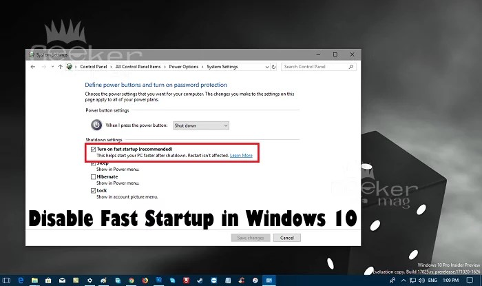 How To Disable Fast Startup In Windows 10 Simple Steps