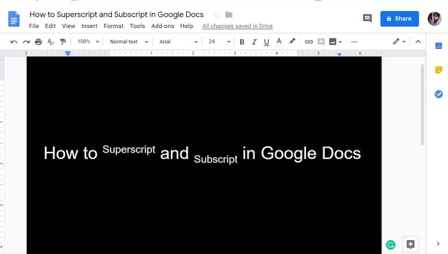 How to Superscript in Google Docs  How to Subscript in Google Docs