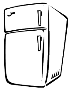 Refrigerator Coloring Pages