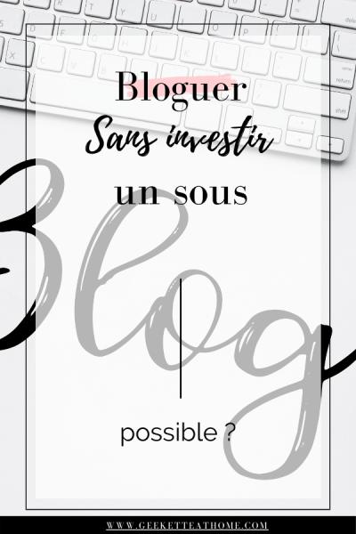 Bloguer sans investir un sous, possible _