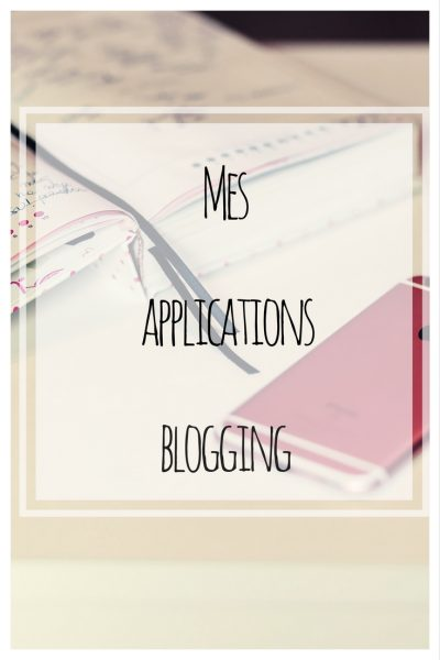 Mes applications blogging